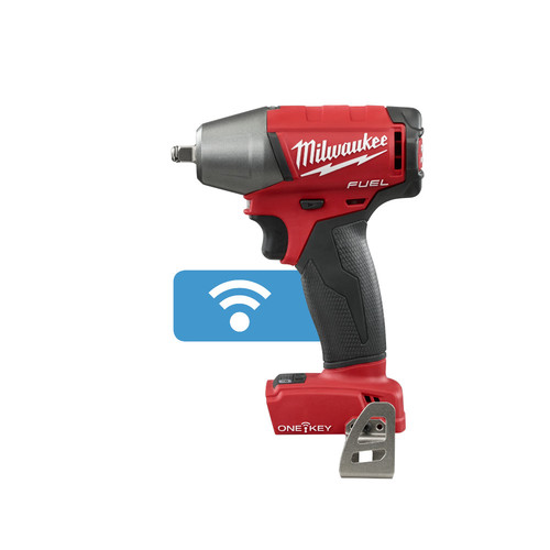 Factory Reconditioned Milwaukee 2758-80 M18 FUEL Cordless Lithium-Ion 3/8 in. Compact Impact Wrench with Friction Ring and ONE-KEY Connectivity (Tool Only) image number 1