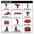 Milwaukee 2495-28 M12 Lithium-Ion 8-Tool Combo Kit image number 12