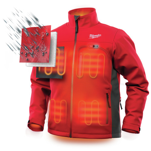 Milwaukee 202R-202X M12 12V Li-Ion Heated ToughShell Jacket (Jacket Only) - 2XL image number 4