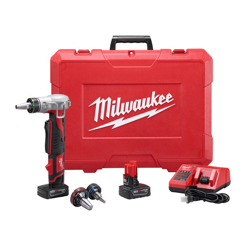 Milwaukee 2432-22XC M12 ProPEX Li-Ion Expansion Tool Kit with 2 XC Batteries image number 0