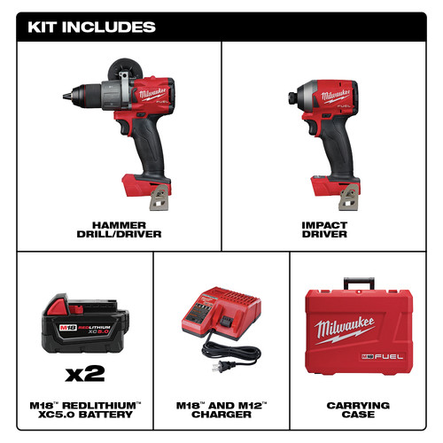 For Hammer Drill Impact 2997-22//2999-22 Read Milwaukee M18 FUEL Hard case only