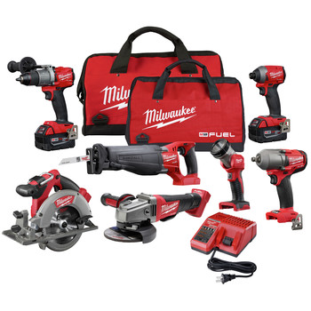 Milwaukee 2997-27 M18 FUEL Li-Ion 7-Tool Combo Kit (5 Ah)