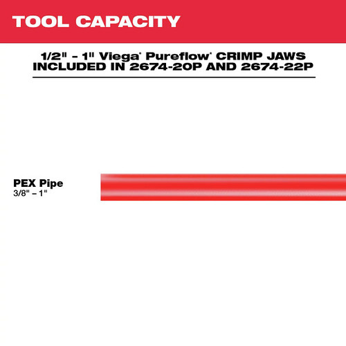 Milwaukee 2674-22P M18 18V 2.0 Ah Short Throw Press Tool Kit with Viega PureFlow Jaws image number 5
