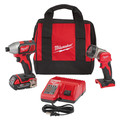 Milwaukee 2656-21L M18 18V Cordless Lithium-Ion 1/4 in. Hex Impact Driver Kit with Free LED Work Light image number 0