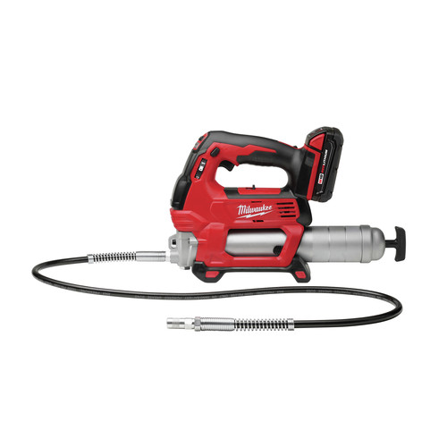 Milwaukee 2646-22CT M18 18V Cordless Lithium-Ion 2-Speed Grease Gun with 2 Batteries image number 1