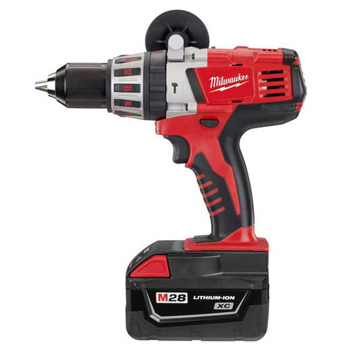 Milwaukee 0726-22 M28 Lithium-Ion 1/2 in. Cordless Hammer Drill Kit (3 Ah) image number 1