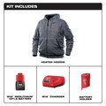 Milwaukee 302G-21XL M12 12V Li-Ion Heated Hoodie Kit - XL image number 1