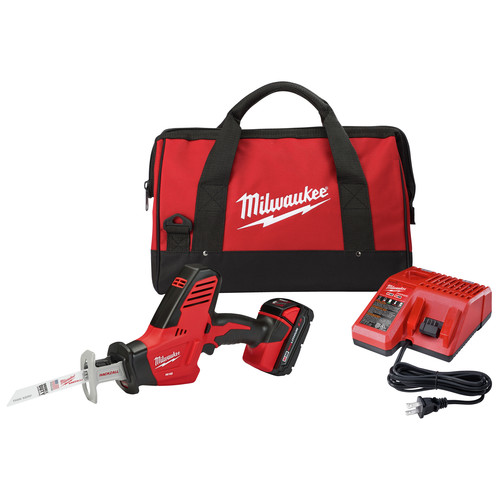 Milwaukee 2625-21CT M18 Lithium-Ion Hackzall Reciprocating Saw with Compact Lithium-Ion Battery