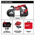 Milwaukee 2729-22 M18 FUEL Cordless Lithium-Ion Deep Cut Band Saw with (2) XC 5 Ah Li-Ion Batteries image number 10