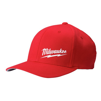 Milwaukee 504R-SM FLEXFIT Fitted Hat - Red, Small/Medium