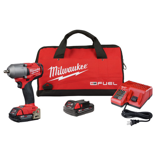 Milwaukee 2852-22CT M18 FUEL 3/8 in. Mid-Torque Impact Wrench with Friction Ring - 2.0 Kit image number 0