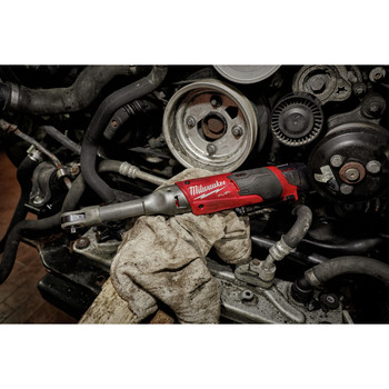 Milwaukee 2559-20 M12 FUEL Cordless Lithium-Ion 1/4 in. Extended Reach Ratchet (Tool Only) image number 2
