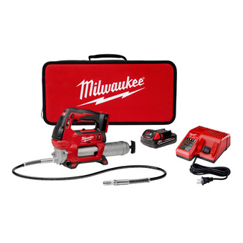 Factory Reconditioned Milwaukee 2646-81CT M18 Lithium-Ion 2-Speed Grease Gun Kit