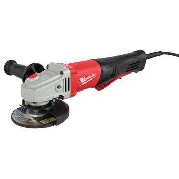 Milwaukee 6143-31 11 Amp 4-1/2 in. / 5 in. Braking Small Paddle No-lock Angle Grinder image number 0