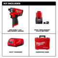 Milwaukee 2553-22 M12 FUEL 1/4 in. Hex Impact Driver Kit image number 14