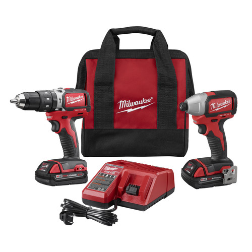 Factory Reconditioned Milwaukee 2799-82CT M18 Compact Brushless Hammer Drill/Impact Driver CP Kit