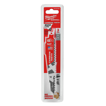 Milwaukee 48-00-5321 6 in. 5 TPI AX with Carbide Teeth (3-Pack) image number 0