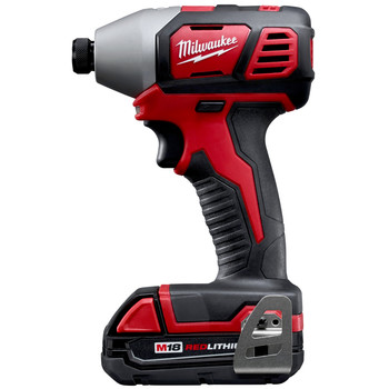 Factory Reconditioned Milwaukee 2656-82CT M18 18V Cordless Lithium-Ion 1/4 in. Hex Compact Impact Driver Kit (1.5 Ah) image number 2