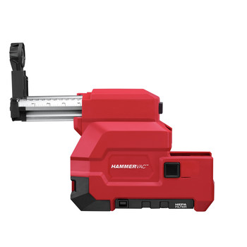 Milwaukee 2715-22DE M18 FUEL Lithium-Ion 1-1/8 in. SDS Plus Rotary Hammer and HAMMERVAC Dedicated Dust Extractor Kit image number 4