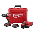 Factory Reconditioned Milwaukee 2702-82CT M18 Lithium-Ion Brushless Compact 1/2 in. Cordless Hammer Drill Driver Kit (2 Ah) image number 2