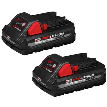 Milwaukee 48-11-1837 2-Pack M18 REDLITHIUM HIGH OUTPUT CP 3 Ah Lithium-Ion Battery