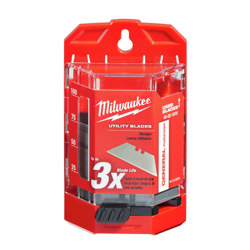 Milwaukee 48-22-1975 General Purpose Utility Knife Blades with Dispenser (75-Pack)