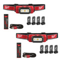 Milwaukee 2111-2111 USB Rechargeable Hard Hat Headlamp 2-Pack Bundle