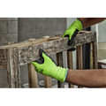 Milwaukee 48-73-8922B 12-Piece Cut Level 2 High Visibility Polyurethane Dipped Gloves - Large image number 5
