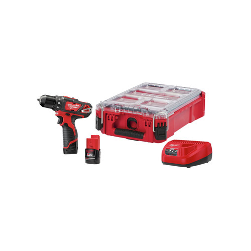 Milwaukee 2407-22PO M12 3/8 in. Drill with PACKOUT Kit