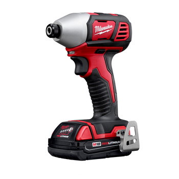 Milwaukee 2656-22CT M18 Lithium-Ion 1/4 in. Hex Compact Impact Driver Kit (1.5 Ah) image number 2