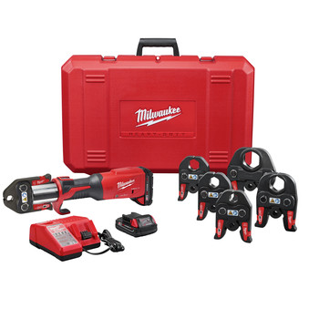 Milwaukee 2922-22 M18 FORCE LOGIC Brushless Lithium-Ion 1/2 in. - 2 in. Jaws Cordless Press Tool with ONE-KEY Kit (2 Ah)