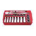 Milwaukee 48-22-9410 22-Piece SAE 1/2 in. Drive Ratchet and Socket Set image number 3