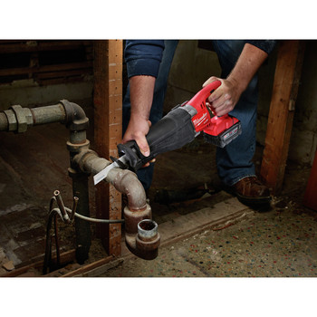 Milwaukee 2720-22 M18 FUEL Cordless Sawzall Reciprocating Saw with 2 REDLITHIUM Batteries image number 7