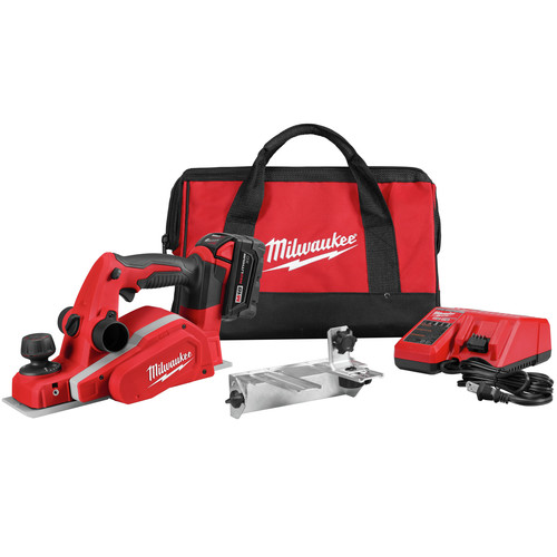 Milwaukee 2623-21 M18 Lithium-Ion 3-1/4 in. Planer Kit image number 0