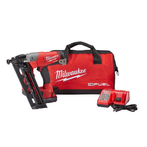 Factory Reconditioned Milwaukee 2742-81CT FUEL 18V Cordless Lithium-Ion 16-Gauge Brushless Angled Finish Nailer Kit