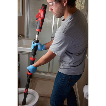 Milwaukee 2576-21 M12 12V 1.5 Ah Cordless Lithium-Ion TRAPSNAKE 6 ft. Toilet Auger image number 7