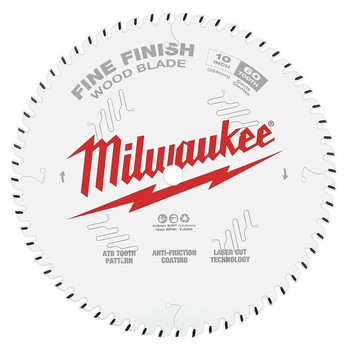 Milwaukee 48-40-1028 10 in. 60T Fine Finish Circular Saw Blade image number 0