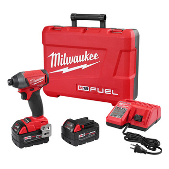 Milwaukee 2753-22 M18 FUEL 5.0 Ah Lithium-Ion 1/4 in. Hex Impact Driver Kit image number 0