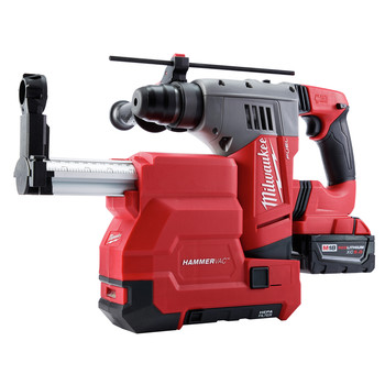 Milwaukee 2715-22DE M18 FUEL Lithium-Ion 1-1/8 in. SDS Plus Rotary Hammer and HAMMERVAC Dedicated Dust Extractor Kit image number 1