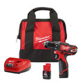 Milwaukee 2407-22 M12 Lithium-Ion 3/8 in. Cordless Drill Driver Kit (1.5 Ah) image number 0