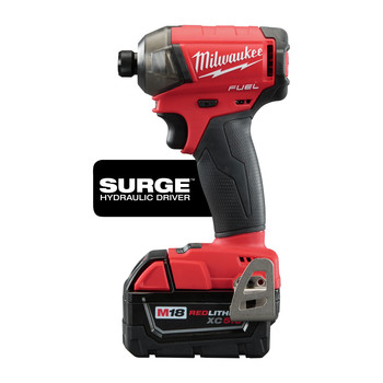 Milwaukee 2760-22 M18 FUEL SURGE 5.0 Ah 1/4 in. Hex Hydraulic Impact Driver Kit image number 2