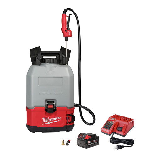 Milwaukee 2820-21CS M18 SWITCH TANK 4-Gallon Backpack Concrete Sprayer Kit image number 0