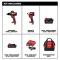 Milwaukee 2893-22CX M18 Brushless 2.0 Ah / 4.0 Ah Hammer Drill / Impact Driver Combo Kit image number 1