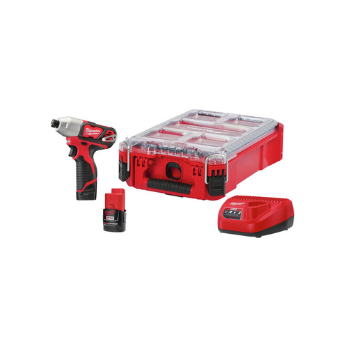 Milwaukee 2462-22PO M12 1/4 in. Impact Driver with PACKOUT Kit