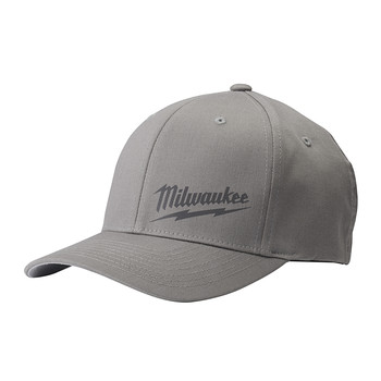 Milwaukee 504G-LXL FLEXFIT Fitted Hat - Gray, Large/X-Large