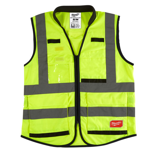 Milwaukee 48-73-5041 High Visibility Performance Safety Vest - Small/Medium, Yellow image number 0