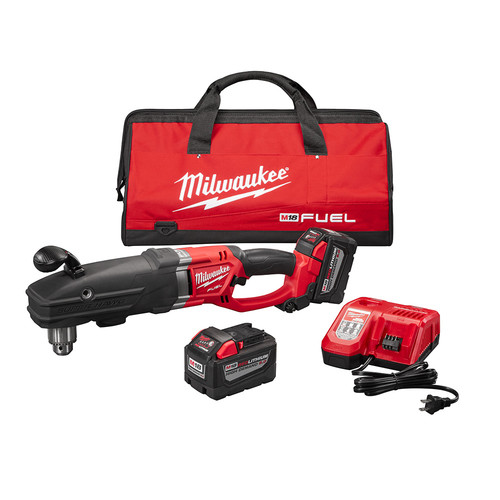 Milwaukee 2709-22HD M18 FUEL SUPER HAWG Lithium-Ion 1/2 in. Cordless Right Angle Drill Kit (9 Ah) image number 0