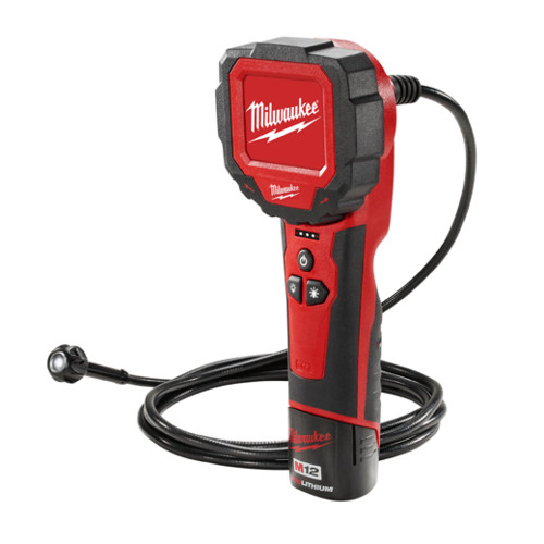 Factory Reconditioned Milwaukee 2314-81 M12 12V Cordless Lithium-Ion M-Spector 360 Rotating Digital Inspection Camera with 9 ft. Cable