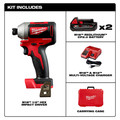 Milwaukee 2850-22CT M18 Compact Brushless 1/4 in. Hex Impact Driver Kit image number 3