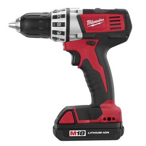 Factory Reconditioned Milwaukee 2601-82 M18 18V Cordless Lithium-Ion Compact Driver/Drill